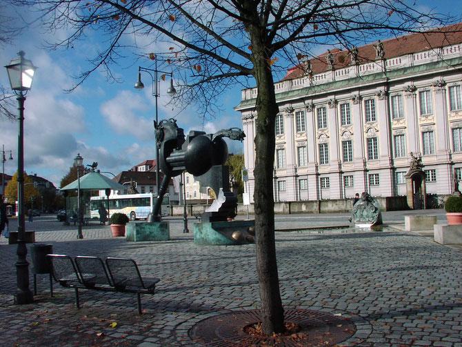 Anscavallo vor dem Markgrafenschloss