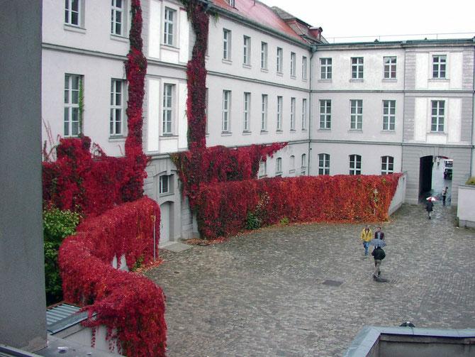 Wein im Innenhof Nordflügel Schloss Ansbach