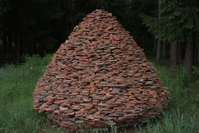 Ziegelpyramide Fotovariante II, Idee und Ausführung: Udo Gundel, Abenberg