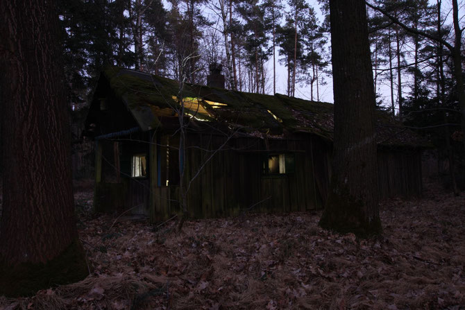 Verfallene Forsthütte bei Birkenfels Lkr. Ansbach am 10.03.2014 um 18:00 Uhr