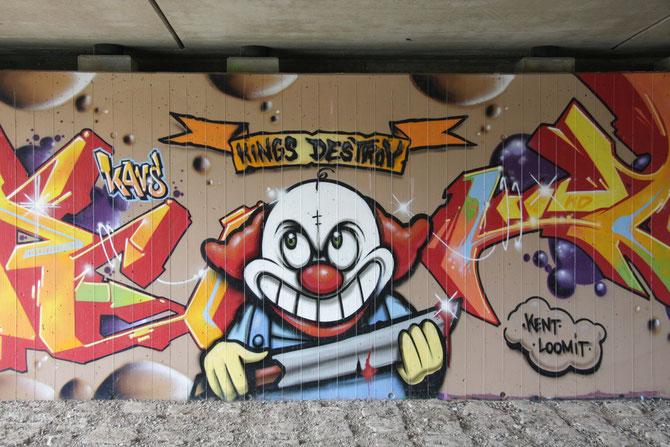 Graffiti Ansbach KasernenDamm 2008