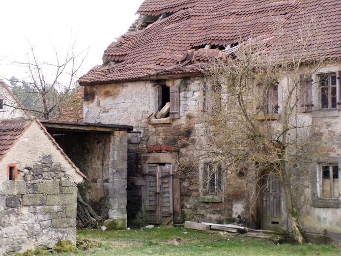 Verfallenes Bauernhaus, Hürbel am Rangen, 29.03.2003
