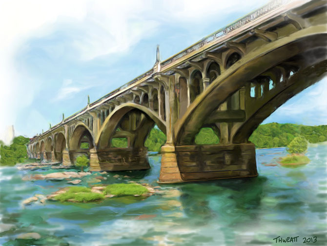 """GERVAIS ST. BRIDGE""  by Michael Thweatt"