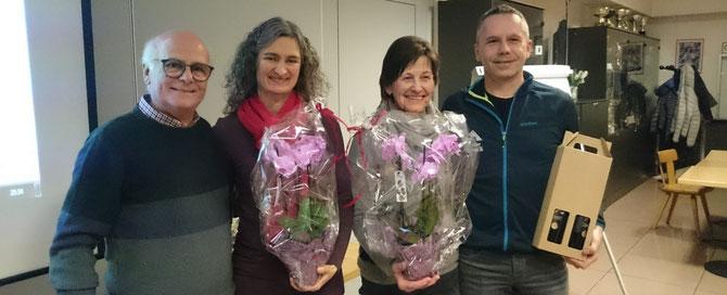 Elmar Dejaco, Sonja Paris, Christa Perathoner (Frau Dejaco), Stefan Mair