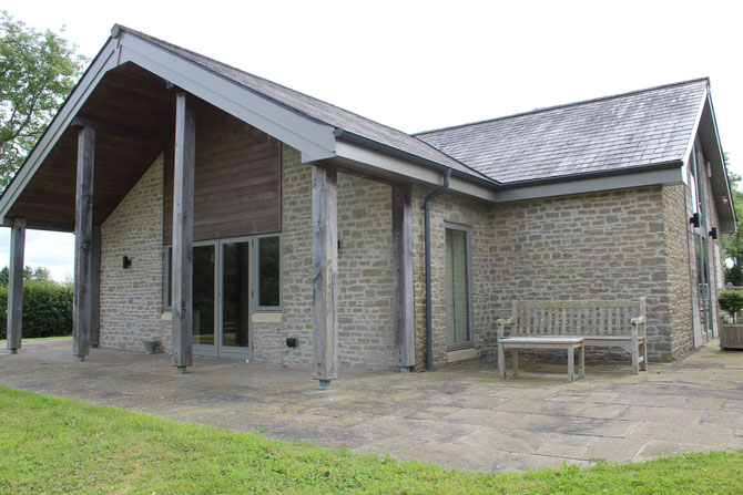 New village hall - new structures using local stone