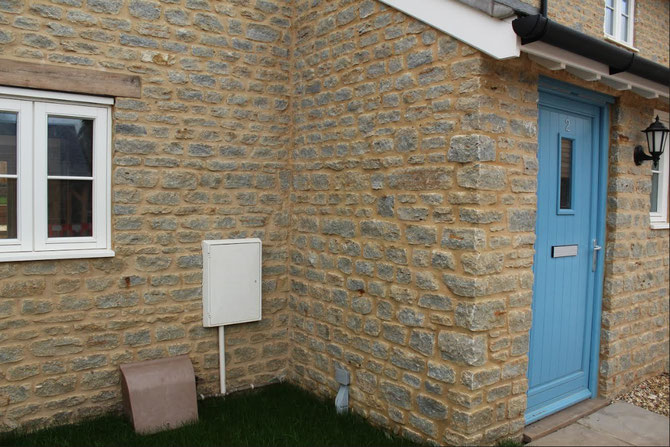 Example of building stone in new house
