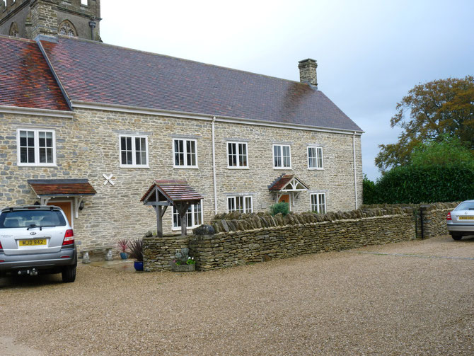 New build - garden walling and traditional building stone