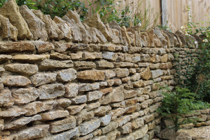 Wall retaining a bank - protecting the property from a road