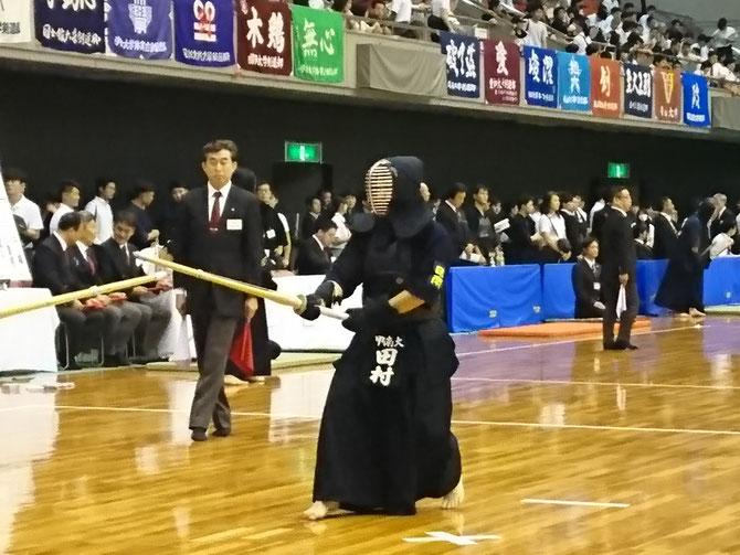 男子2年連続の本大会出場となる今年、大舞台に立つ田村選手の雄姿は、現役部員たちを勢いづけたに違いない。