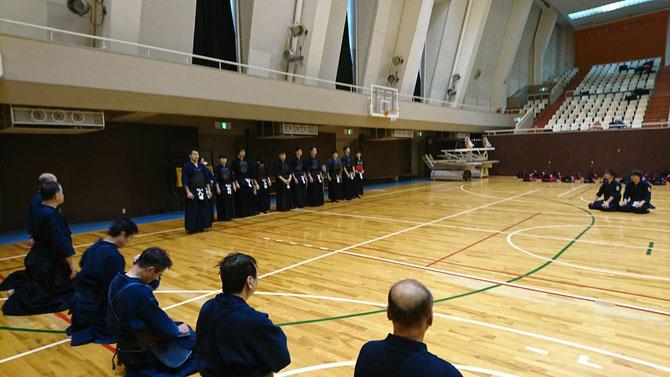 大学・高等学校・中学校新幹部挨拶。 写真提供:入江尚吾 先輩(H11年卒)