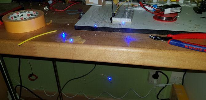 SMD LEDs für ein kleines Rundumlicht