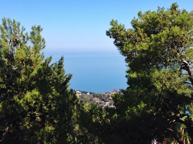Vista desde Benalmádena pueblo.