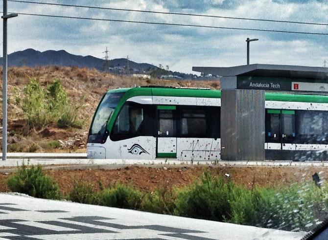 Pruebas del tranvía/metro de Málaga.