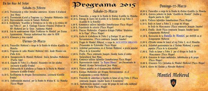 Programa de Montiel Medieval 2015