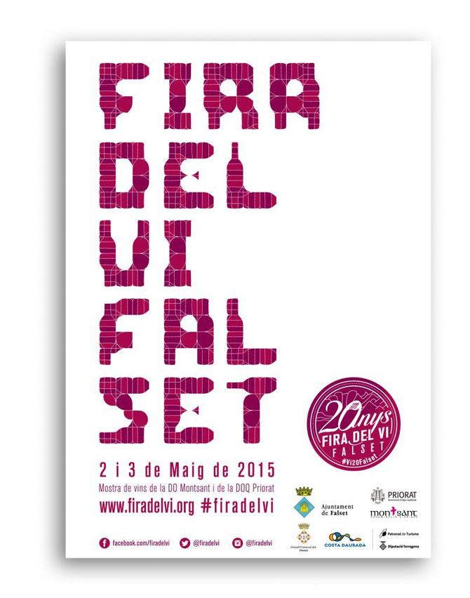 Programa y cartel de la Fira del Vi 2015 en Falset