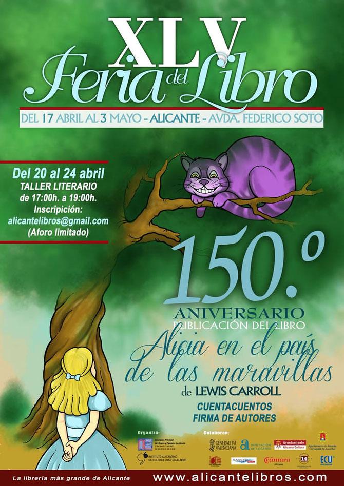 Cartel de la Feria del Libro 2015 en Alicante