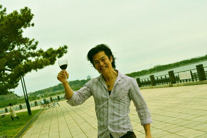 バーベキュー会場 主催者近影9