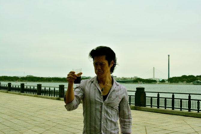 バーベキュー会場 主催者近影2