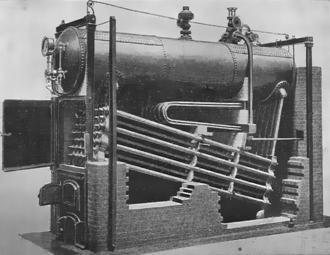 Babcock and Wilcox boiler (Heat Engines, 1913)