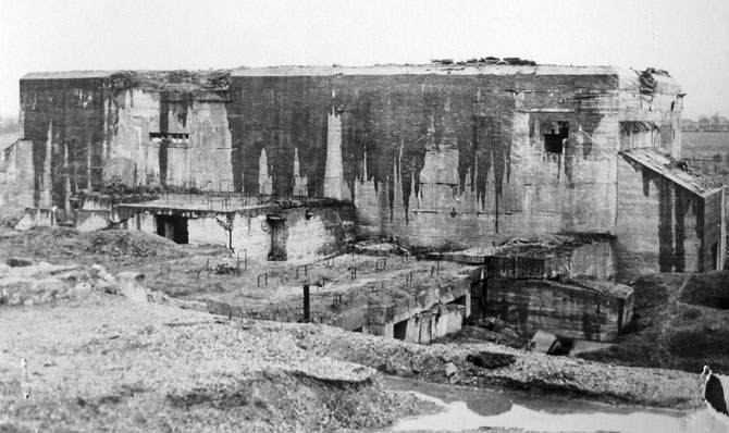 Exterior of the Blockhaus d'Éperlecques - photograph created by the United Kingdom Government and taken prior to 1 June 1957