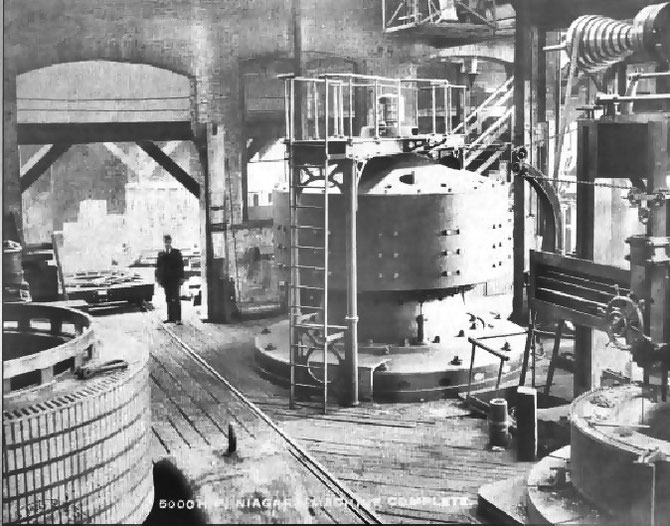 Adams power station during construction 1895