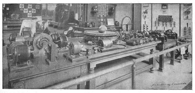Fig. 297. Nikola Tesla's personal exhibit at the World Fair in Chicago, 1893.