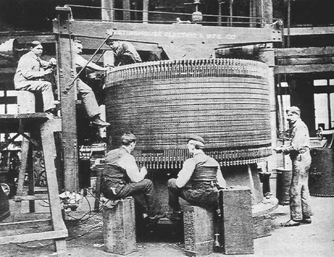 A Niagara generator under construction at Westinghouse in Pittsburgh 1894