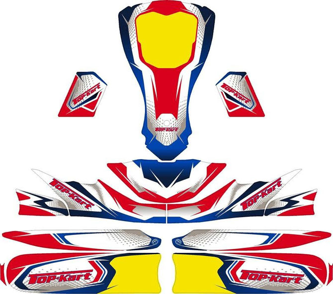 TOPKART 2015 TYPHOON NEW BODY STICKER