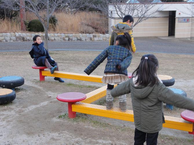 おもいっきり公園で遊んだ