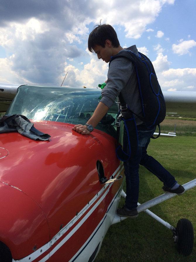 Was macht ein Pilot in der Pause..