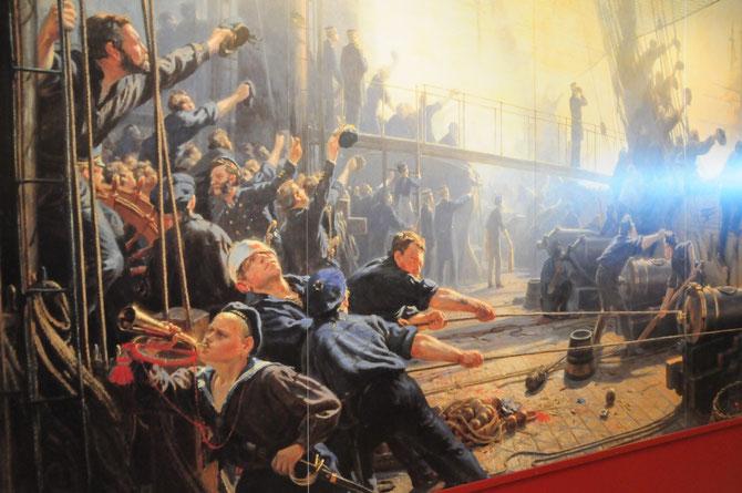 Die Schlacht vor Helgoland auf der Fregatte Jylland