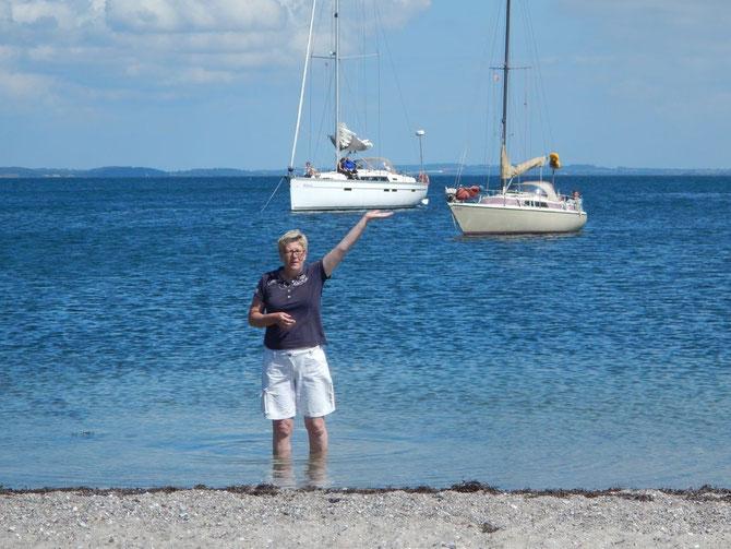 Nicht Her-, nein Fraukules- Strand und Ankerbucht Nakkeodde/Avernakø