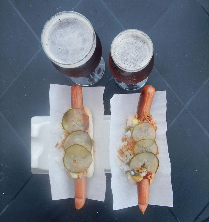 Hot Dogs und Øl