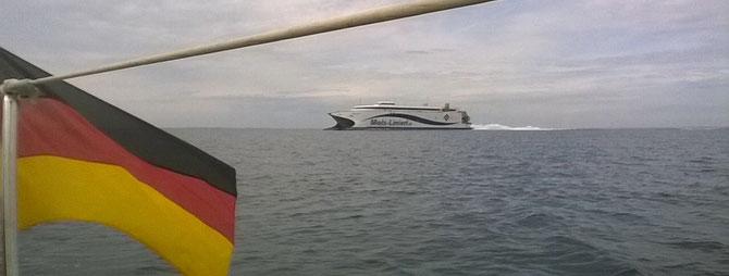 Auf dem Weg nach Ebeltoft- High Speed Ferry der Mols Linien
