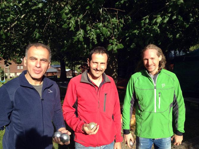 José, Jürg und Roli, danke für die spannenden Spiele