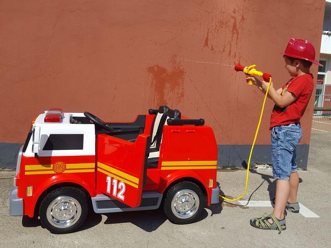 American Fire Truck 112/2 Sitzer/Feuerwehr/Kinderauto/Kinder Elektroauto/Kinderautos/Kinder/
