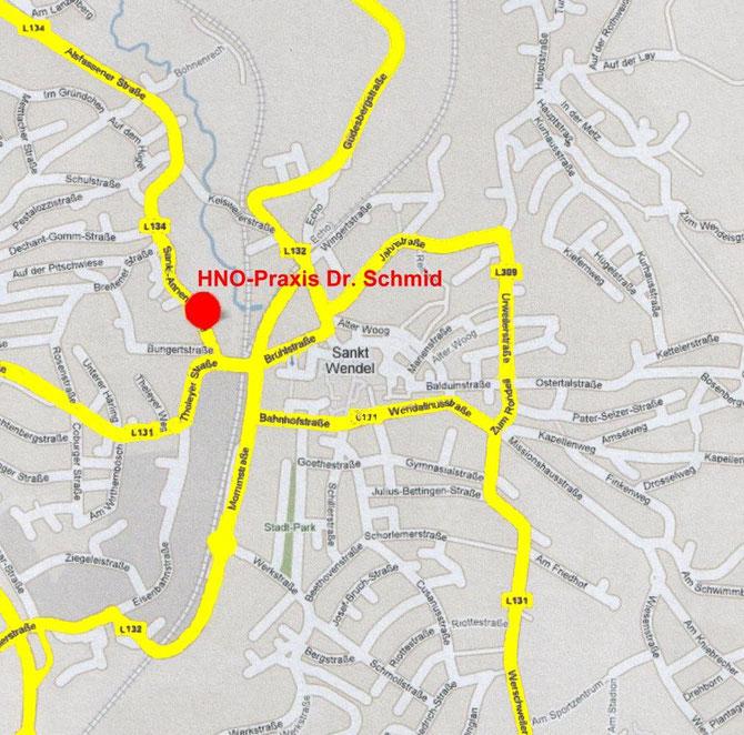Stadtplan Innenstadt St. Wendel