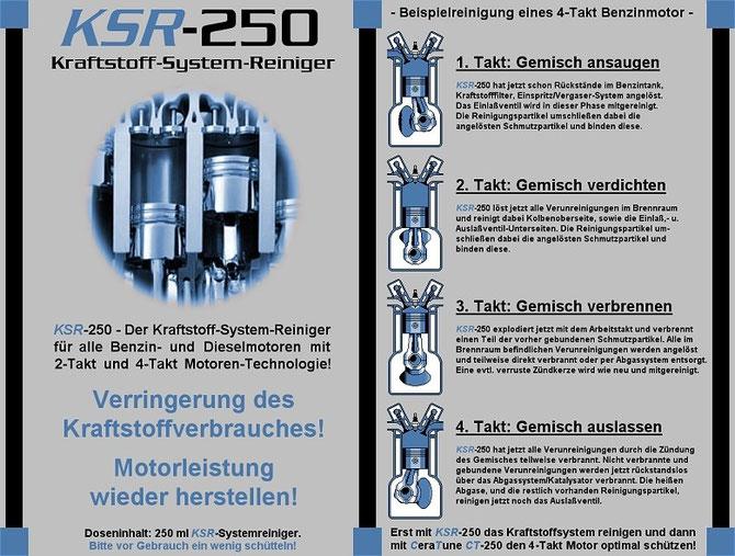 KSR-250 Reiniger des Kraftstoff-Systems Leistungsdaten 1