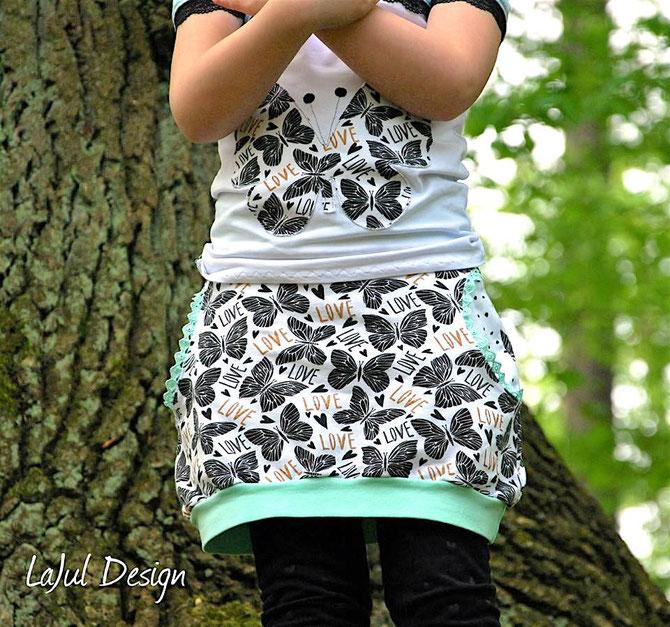 NEU: Lybstes. Ballonrock für Kids Gr. 122-164, neues Schnittmuster, Ballonrock nähen