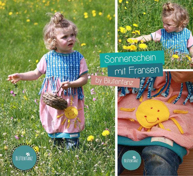 Ballonkleid Sommer-Milla by Lybstes. Genäht von Blütentanz. Schnittmuster mit Fransen und als Shirt erhältlich!