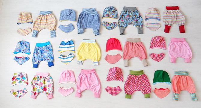 Lybstes Willkommenset-Aktion für Flüchtlingsbabys mit Baby-Pumphose nach dem Lybstes-Freebook