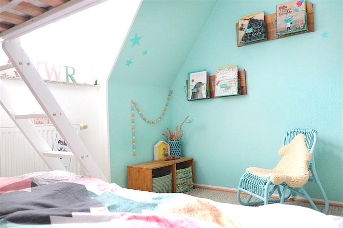 Lybstes Kinderzimmer! In Mint, Rosa, Weiß und Schwarz mit Hochbett. Tschüss Familienbett...