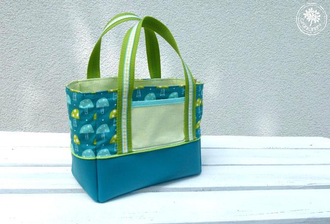 Lybstes Kidstasche FREEBOOK, Kindergartentasche von Grünkariert genäht