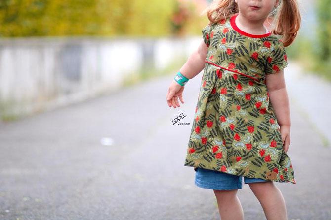 """Neues Lybstes Schnittmuster: Sommerkleid für Kinder, Basickleid """"Juna"""" Gr. 56-122"""