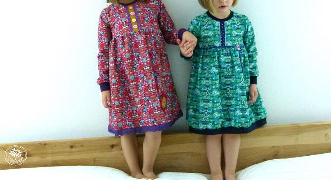 Tutorial: Lybstes Hoody oder Basicshirt als Kleid nähen