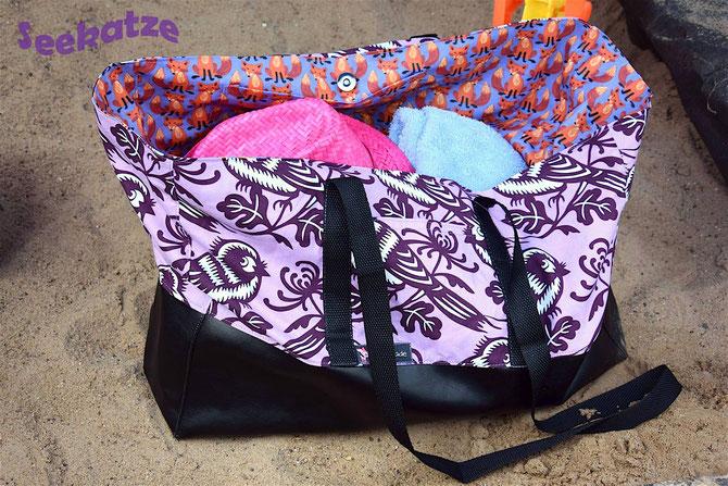 Lybstes Strandtasche in groß! Riesige Familien-Tasche für alle, auch in der Kidsgröße