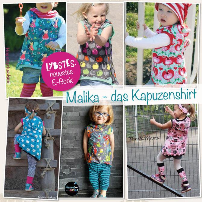 E-Book Malika von Lybstes: ein vorne-kurz-hinten-lang Kapuzenshirt!