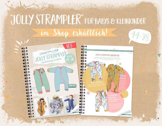 Lybstes E-Book: Jolly Strampler nähen für Babys und Neugeborene!