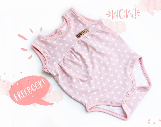 Lybstes Sommerbody Freebook fürs Baby! Gr. 56 - 74 umsonst - free pattern