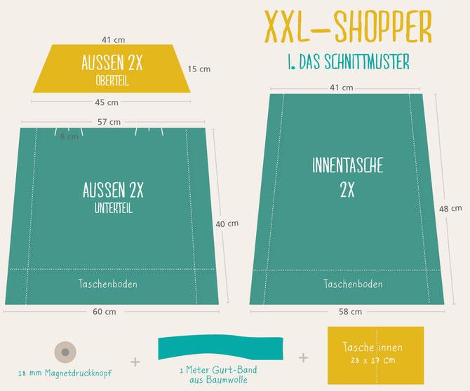 xxl shopper oder auch michis markt tasche selber n hen. Black Bedroom Furniture Sets. Home Design Ideas